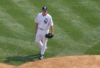 David Cone - Cone pitching at Yankee Stadium during the 2010 Old-Timers' Day