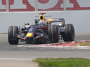 Red Bull Racing - David Coulthard driving for the team at the 2007 Canadian Grand Prix.