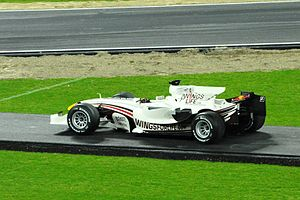 2008 Brazilian Grand Prix - David Coulthard's car from the 2008 Brazilian Grand Prix, pictured at the 2008 Race of Champions