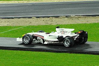 2008 Brazilian Grand Prix - David Coulthard's car from the 2008 Brazilian Grand Prix, pictured at the 2008 Race of Champions