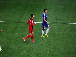 David Nugent - Nugent (left) playing for Leicester City in 2014