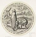 De misantroop wordt bestolen door de wereld, Johannes Wierix, after Pieter Bruegel (I), 1566 - 1570.jpg