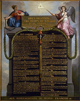 Rights - The Declaration of the Rights of Man and of the Citizen in 1789 in France.