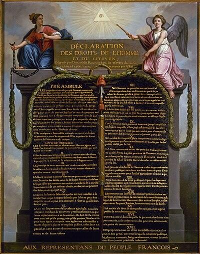 Deklarationen om de mänskliga rättigheterna, originalet från 1789