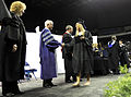 Defense.gov News Photo 100523-F-6655M-008 - Secretary of Defense Robert M. Gates congratulates graduates of Blue Valley Northwest High School during their graduation ceremony at Kemper Arena.jpg