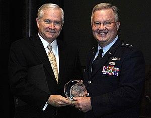 Roger P. Lempke - Lempke with Bob Gates