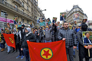 Kurdistan Workers' Party - Demonstration in Paris for slain PKK workers