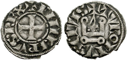 Denier tournois coin of Philip II Denier tournois 1270.jpg
