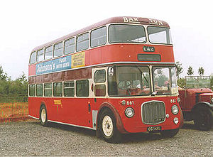 Lowbridge double-deck bus - Barton's unique Dennis Loline, 861
