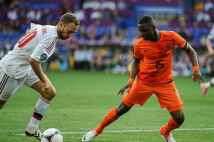 Willems jugant a l'Eurocopa 2012
