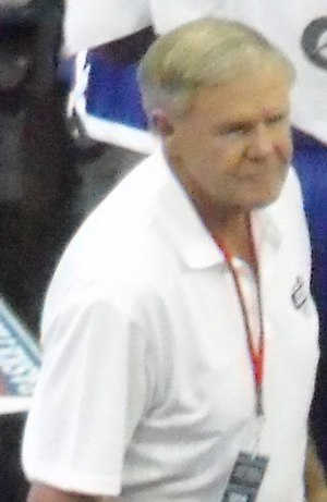 Denny Crum - Crum coaching an exhibition against the Dominican Republic National Team in 2011