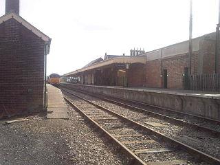 Dereham railway station Railway station in Norfolk, England
