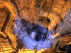 Deep ventilation well in Derinkuyu Underground City