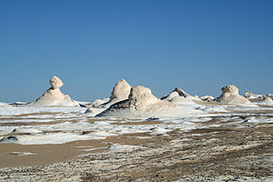 Western Desert (Egypt) - Rock formations in the White Desert.