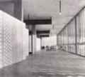 Detail of design projects by Gualtiero Galmanini, with ceiling heating with innovative brushes on the ceiling, 1955.png