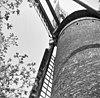 detail van bakstenen molen, doorgeroeste binnenroede - acht - 20004461 - rce