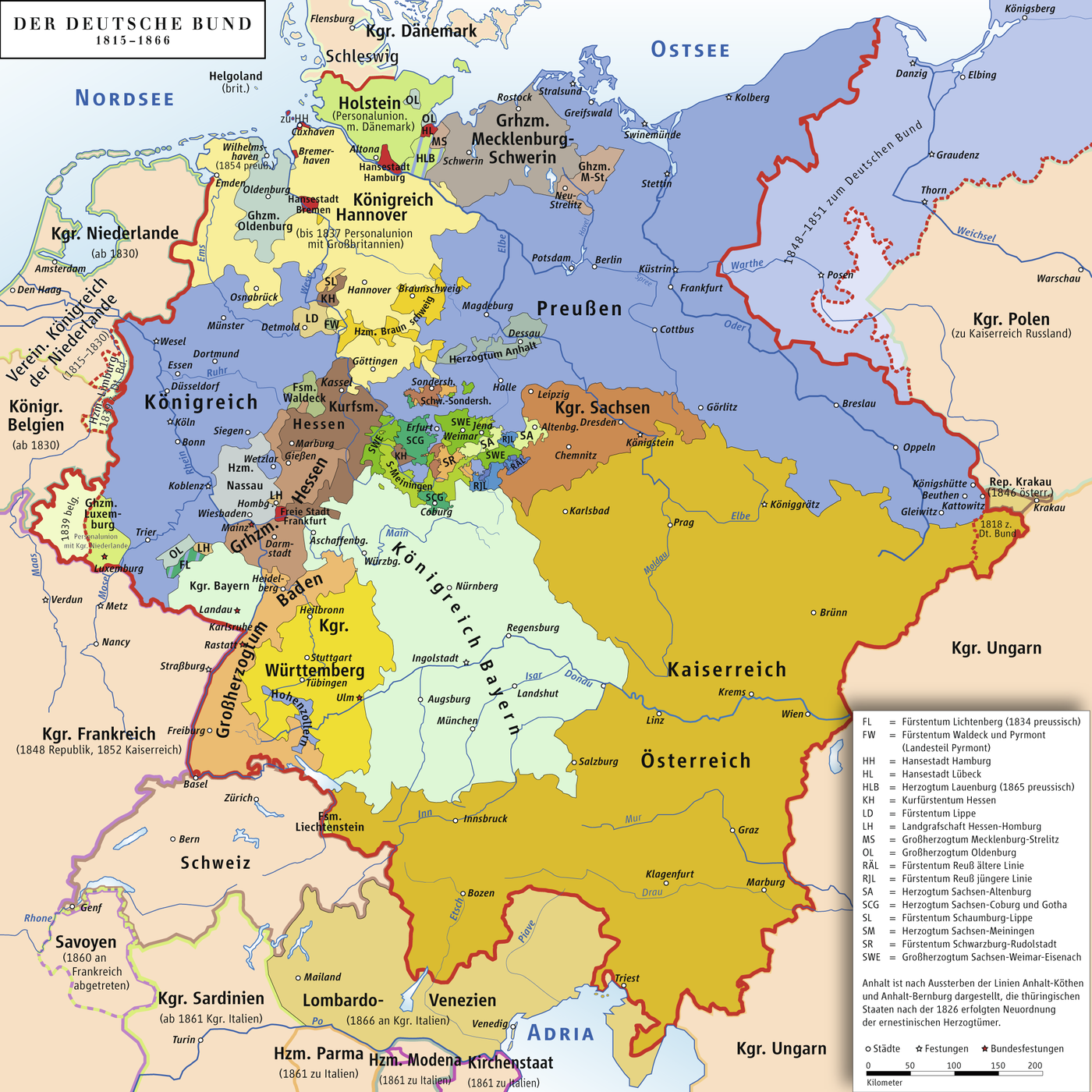 a map of the german confederation