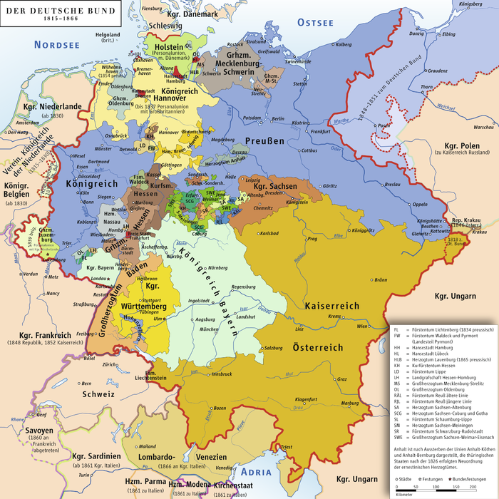 List Of Historic States Of Germany Wikipedia - Map 9f germany