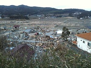 Rikuzentakata, Iwate - Rikuzentakata after the 2011 earthquake and tsunami