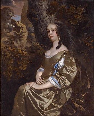 Francis Newport, 1st Earl of Bradford - Diana Russel, Lady Newport (Peter Lely)