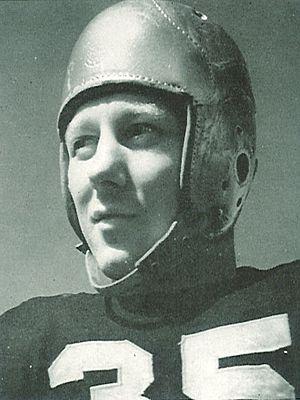 Dick Evans (athlete) - Evans from 1941 Hawkeye
