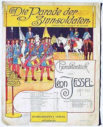 The Parade of the Tin Soldiers - Early sheet music published in Germany as Op.123