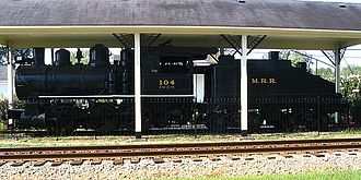 "Conyers, Georgia - A 1905 Rogers Steam Locomotive, named ""Dinky"", on display in Conyers. The engine carried freight between Conyers and Milstead until 1961."