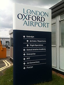 Directional sign, London Oxford Airport, Oxfordshire, UK - 20120424.jpg