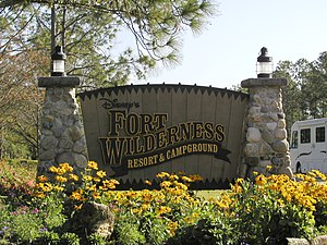 Disney's Fort Wilderness Resort & Campground - Image: Disney's Fort Wilderness Resort and Campground sign