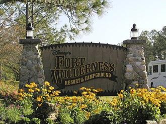 Disney's Fort Wilderness Resort & Campground - Image: Disney's Fort Wilderness Resort and Campground sign