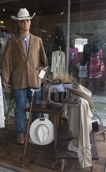 Display window at Lou Taubert's Ranch Outfitters, a venerable western-wear store in Casper, Wyoming LCCN2015634100