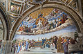 Disputation of the Holy Sacrament - fresco by Raphaelo, Stanza della Segnatura, Museum Vaticano (5789668503).jpg