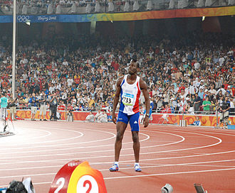 Leslie Djhone - Leslie Djhone at the 2008 Olympics.
