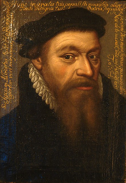 Albertus Risaeus (1510-1574), participated in the pro-Protestant movement at the University of Louvain. He fled to the United Provinces. DomMuseum-02-2a.jpg