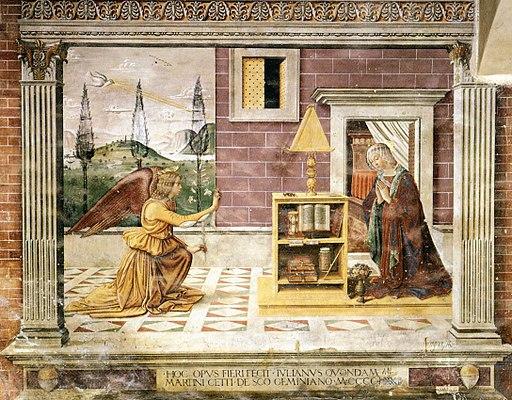 Sebastiano Mainardi, Annunciazione, circa 1482