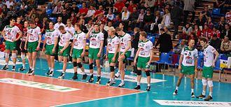 AZS Częstochowa - Domex Tytan AZS Częstochowa before the match with Asseco Resovia Rzeszów in season 2009/2010.