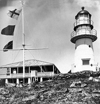 Double Island Point Light - Lighthouse, circa 1931