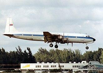 1972 Puerto Rico DC-7 crash - A DC-7CF similar to the accident aircraft