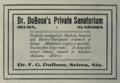 "Dr. DuBose's Private Sanatorium (""American medical directory"", 1906 advert).png"