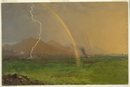 Drawing, Alpine Scene in Thunderstorm, 1868 (CH 18198991)