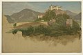 Drawing, Castle from Salzburg, Austria, 1868 (CH 18196717).jpg