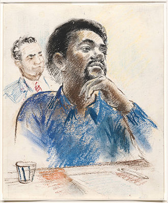Bobby Seale - Seale on trial in 1970, State Attorney Arnold Markle in the background.