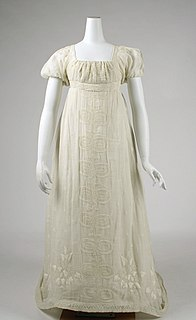 garment for women, children, or infants consisting of a bodice and skirt made in one or more pieces