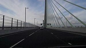 Mersey Gateway - Driving north on the Mersey Gateway