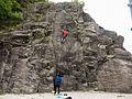 """Due arrampicatori presso palestra di roccia """"Il Cinzanino"""" - falesia di Maccagno (Lago Maggiore - Varese) - 2017-04-30.jpg"""