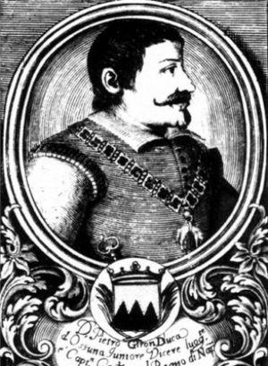 Battle of Cape Corvo - Engraving of Pedro Téllez-Girón y Velasco, 3rd Duke of Osuna.