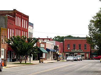 Parksley, Virginia - Dunne Avenue and Bennett Street, the commercial center of Parksley