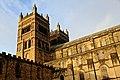 Durham Cathedral from interior, Durham, UK, KW (15539691558).jpg
