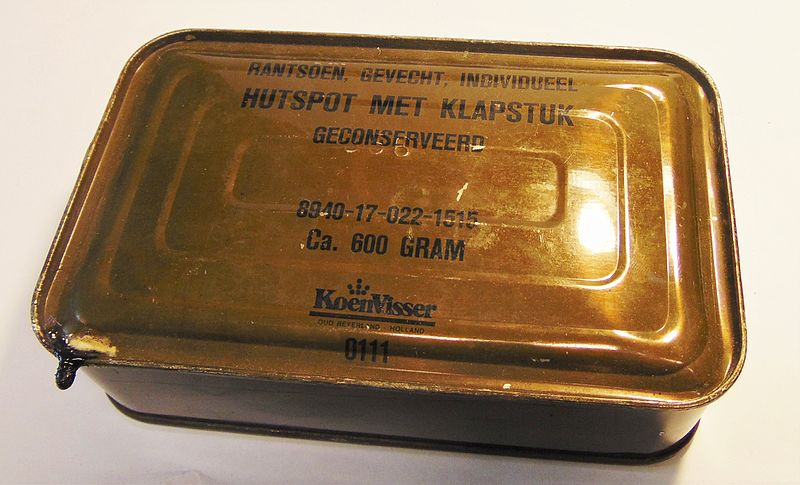 File:Dutch military combat rations, Hutspot with klapstuk.JPG