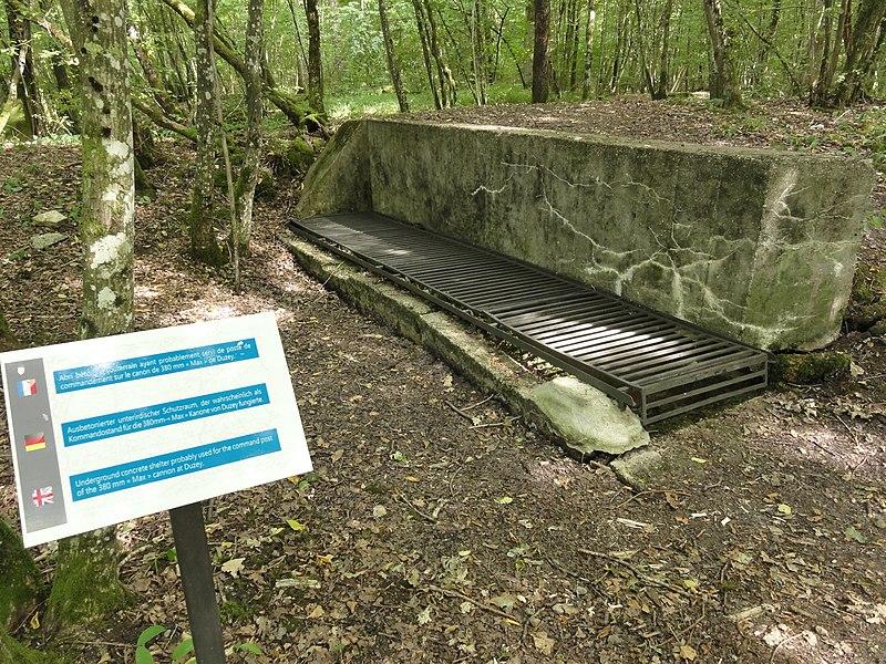 Duzey (Meuse) site du canon allemand 350 mm